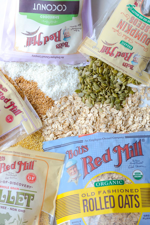 Seedy Almond Oat Bars ingredients