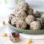 Cashew Date Chocolate Sesame Energy Balls