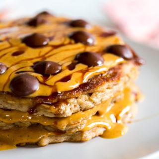 Gluten Free Almond Flour Banana Pancakes by Baking The Goods