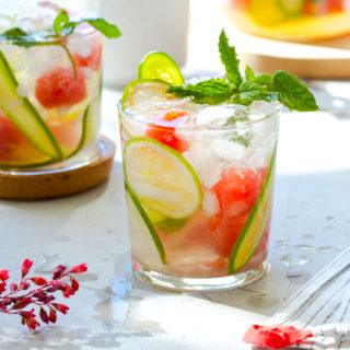 Cucumber Melon Sangria Cooler by Baking The Goods