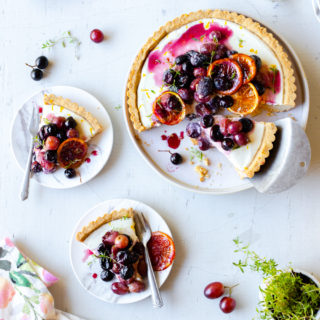 Roasted Grape Goat Cheese Tart by Baking The Goods