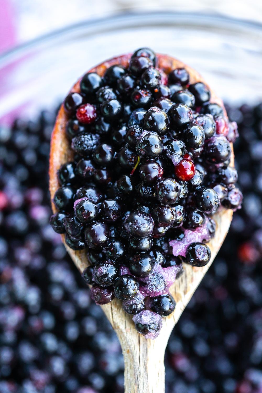 Huckleberry filling