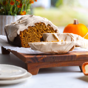Pumpkin Spice Bread with Maple Cream Cheese Frosting