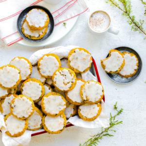 Iced Orange Currant Oatmeal Cookies