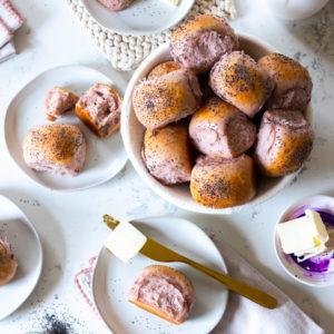 Purple Sweet Potato Dinner Rolls