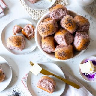 Purple Sweet Potato Dinner Rolls by Baking The Goods