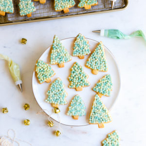 Vanilla Sugar Cookie Trees with Cream Cheese Frosting