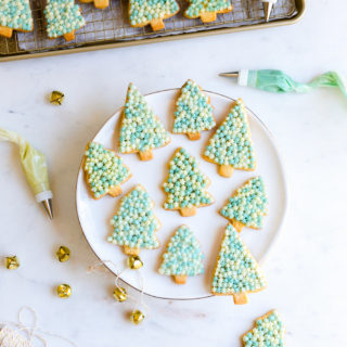 Vanilla Sugar Cookie Trees with Cream Cheese Frosting by Baking The Goods