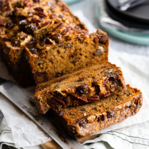 Brown Butter Pecan Chocolate Chip Banana Bread